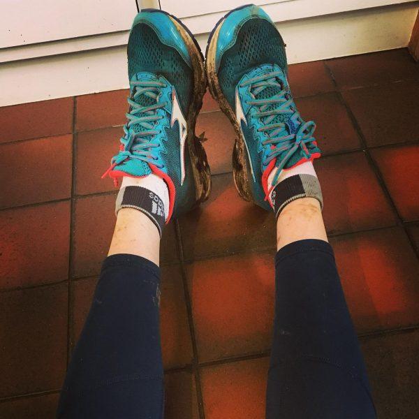 Four After Umbrage supporters run in the Edinburgh Marathon
