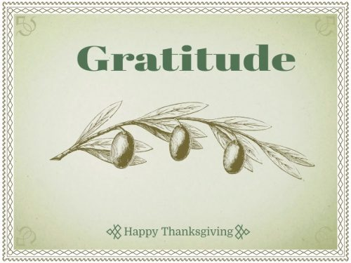 A Thanks Giving message for you