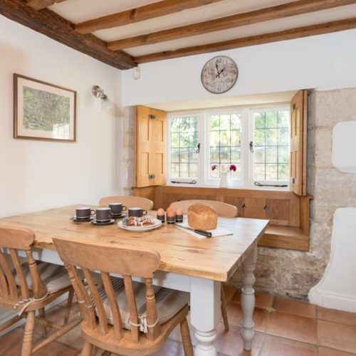 Dining area of Rental Holiday Cottage in Bath