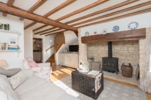 Lounge of Rental Holiday Cottage in Bath
