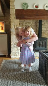 Suzy at Kingham Cottage with Esme
