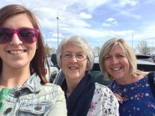 My Mum, my daughter and I in the summer before diagnosis
